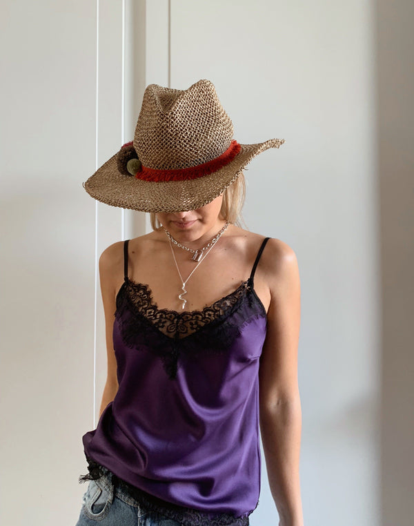 CAMI TOP IN PURPLE Top LE TRÉ Small purple