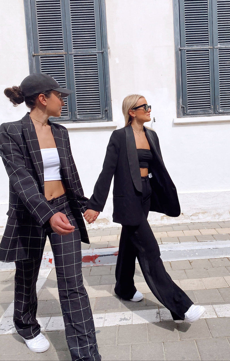 CHECKED SUIT SET IN BLACK -  - Shop Fashion at LE TRÉ