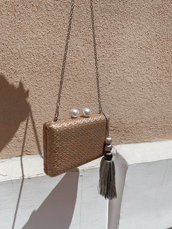CLUTCH BAG WITH FAUX PEARL CLOSING - Accessories - Shop Fashion at LE TRÉ