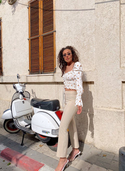 CROPPED FLARE TROUSERS - Trousers - Shop Fashion at LE TRÉ