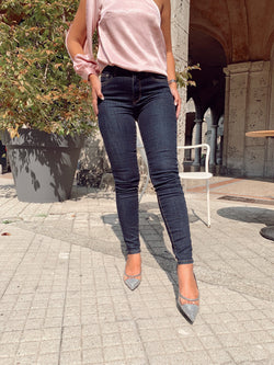 DARK BLUE SKINNY JEANS - Jeans - Shop Fashion at LE TRÉ