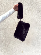 FAUX FUR BAG IN BLACK - Accessories - Shop Fashion at LE TRÉ