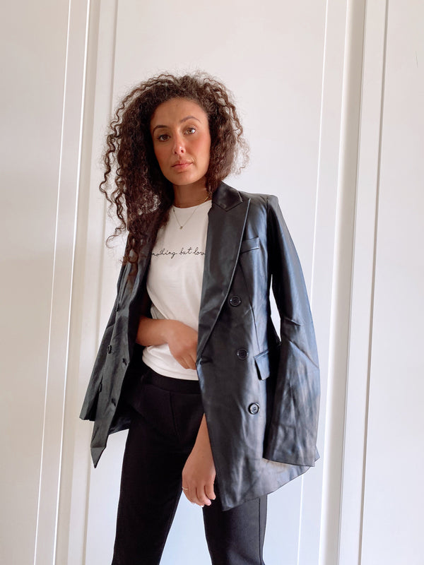 FAUX LEATHER BLAZER - Coats & Jackets - Shop Fashion at LE TRÉ