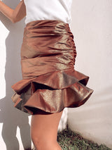 FRILL SKIRT WITH RUCHED DETAIL - Skirt - Shop Fashion at LE TRÉ