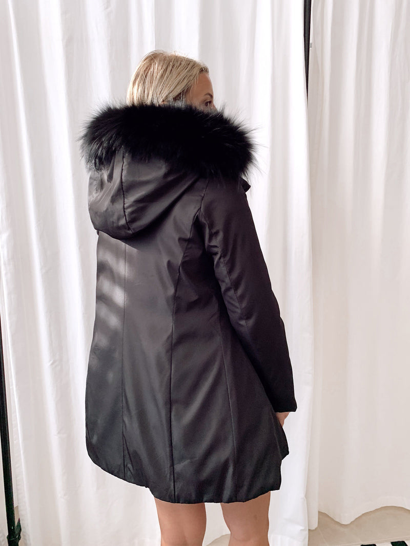 FUR PARKA COAT Coats & Jackets LE TRÉ