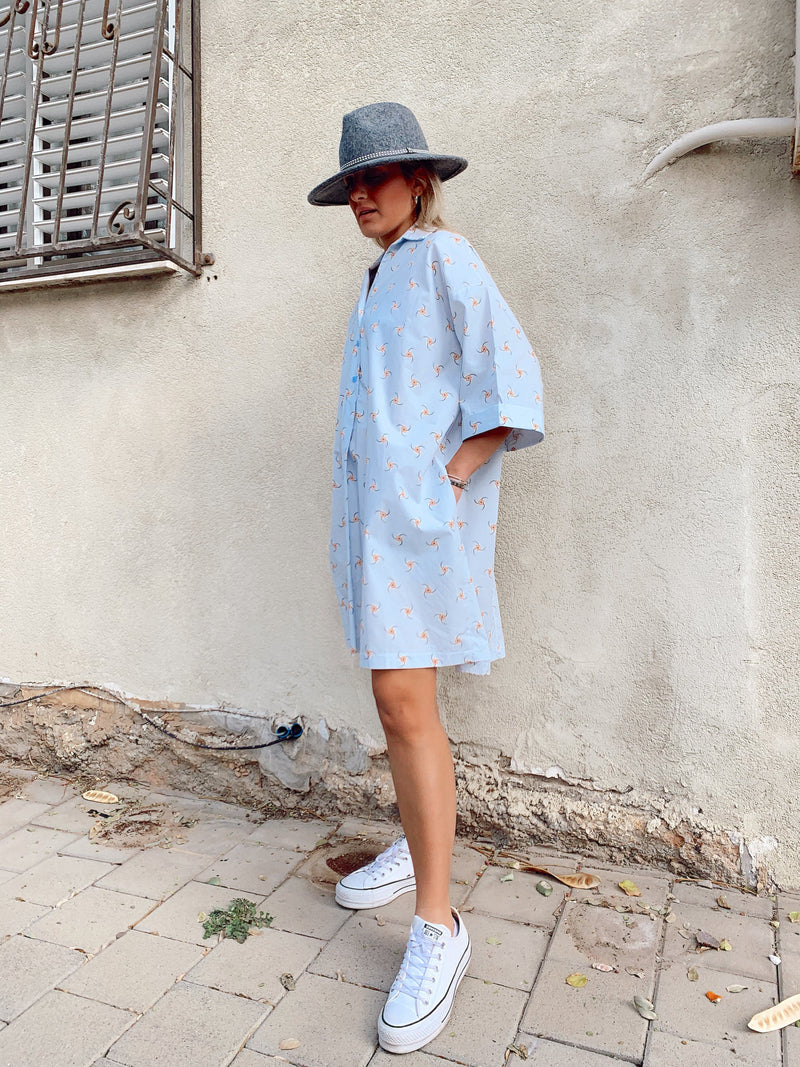 HAWAIIAN SHIRT DRESS - LE TRE
