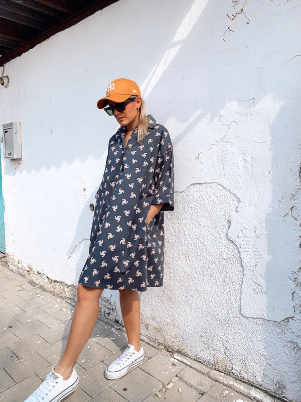 HAWAIIAN SHIRT DRESS - Dress - Shop Fashion at LE TRÉ