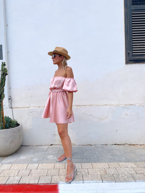 OFF SHOULDER SATIN PLAYSUIT - Jumpsuit - Shop Fashion at LE TRÉ