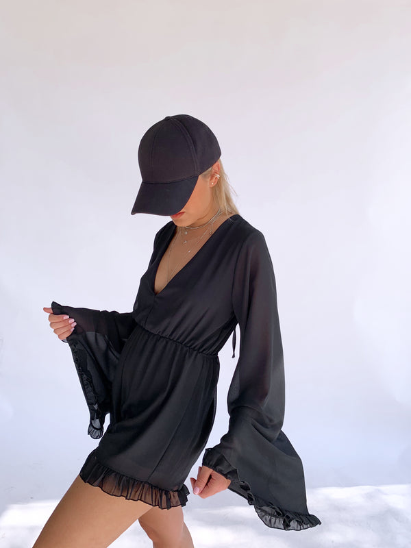 PLAYSUIT WITH WIDE SLEEVE
