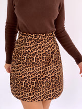 A LINE SKIRT IN LEOPARD