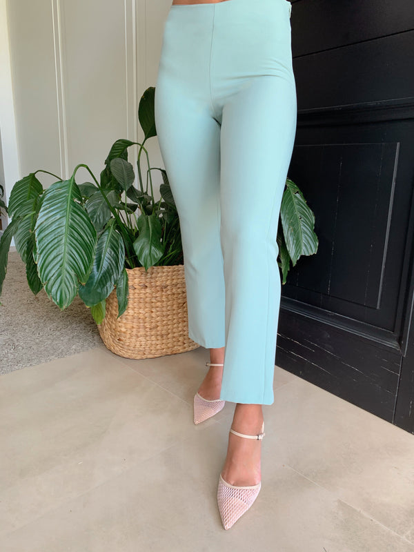 AQUA FLARED TROUSER - Trousers - Shop Fashion at LE TRÉ