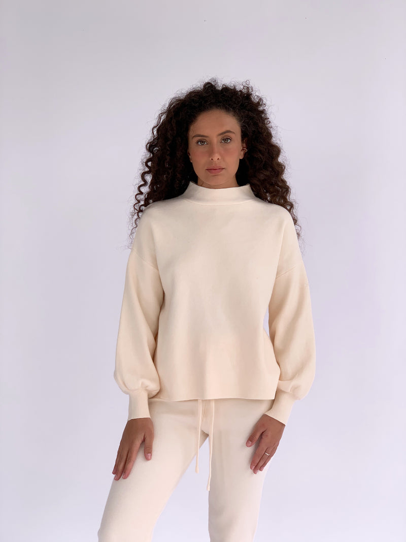 KNITTED JUMPER WITH MATCHING JOGGERS