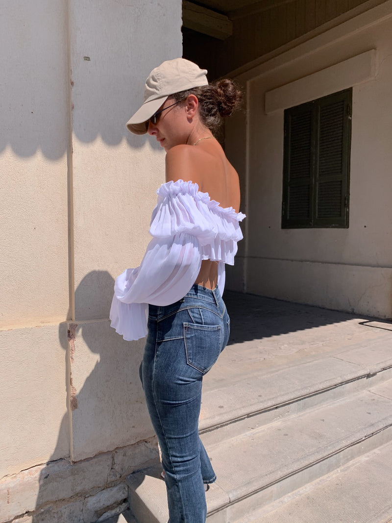 COMO TOP IN WHITE - Top - Shop Fashion at LE TRÉ