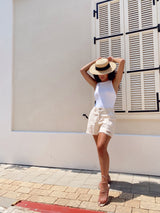 HIGH WAISTED SHORTS WITH RIPS - Jeans - Shop Fashion at LE TRÉ