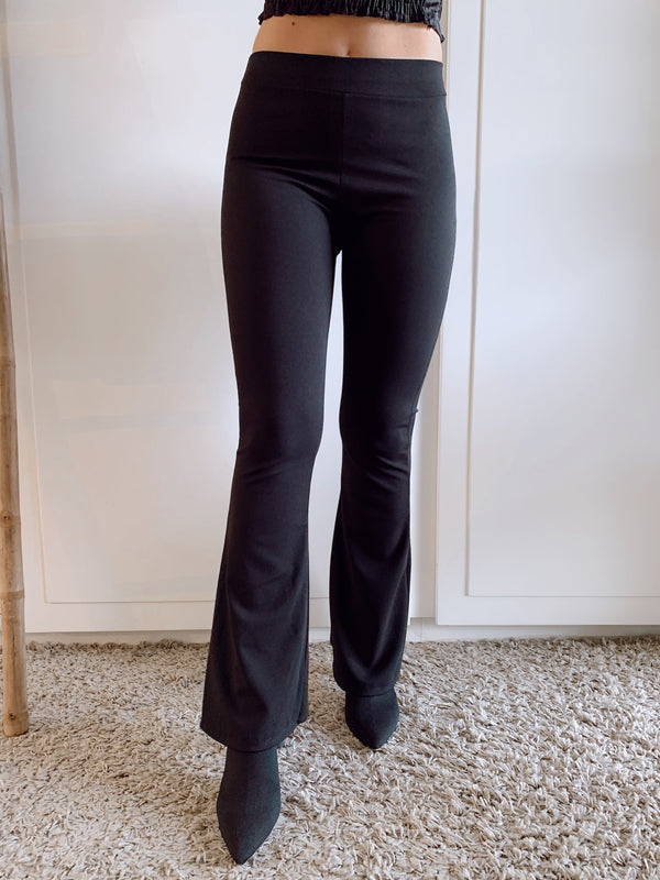 STRETCH FLARE TROUSERS - Trousers - Shop Fashion at LE TRÉ