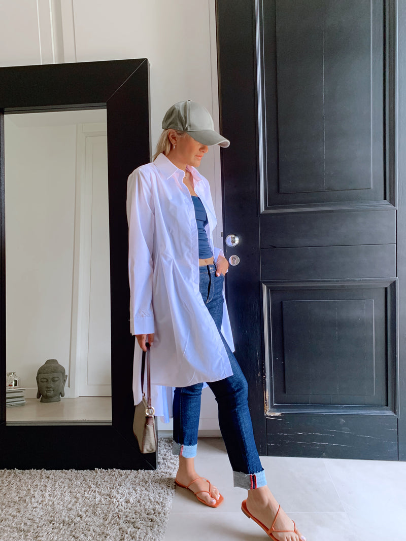 SHIRT DRESS IN WHITE - Dress - Shop Fashion at LE TRÉ