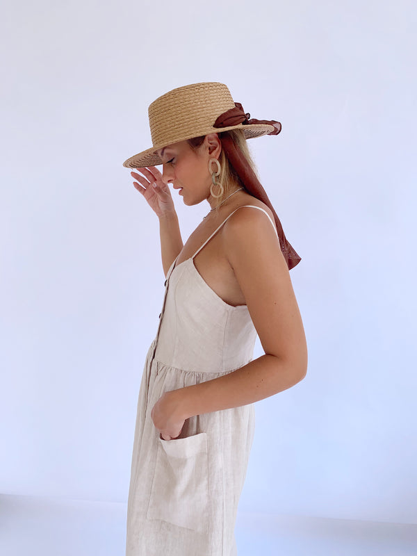 BUTTON THROUGH LINEN DRESS