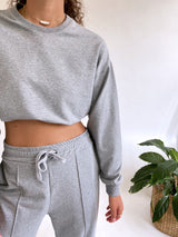 CROPPED SWEATSHIRT WITH MATCHING JOGGER