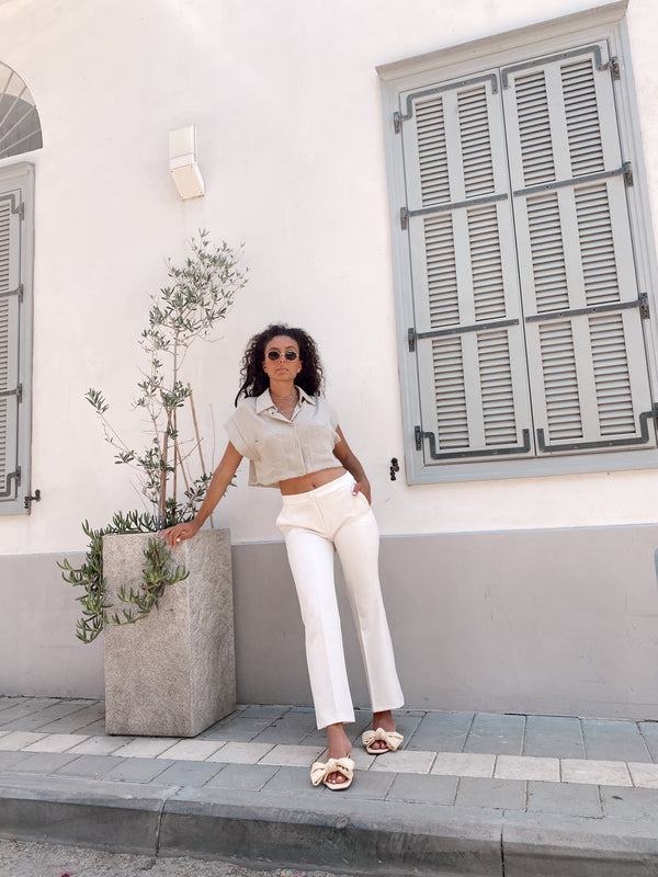 TAILORED STRAIGHT LEG  TROUSERS - Trousers - Shop Fashion at LE TRÉ