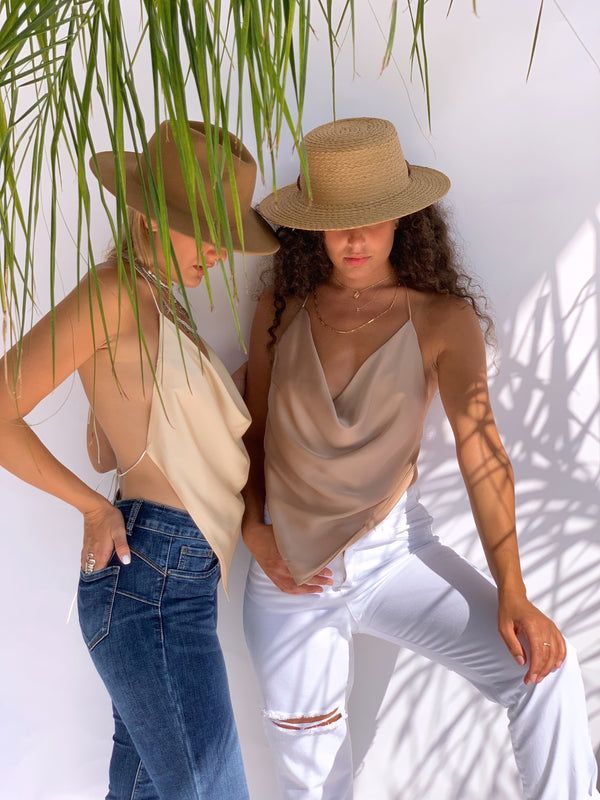 PALERMO TOP IN LIGHT BROWN