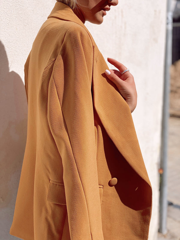 LIGHT ORANGE BLAZER - Coats & Jackets - Shop Fashion at LE TRÉ