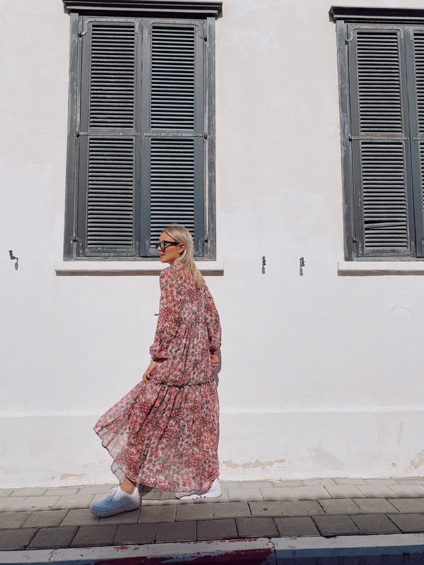 MAXI SMOCK DRESS IN LEOPARD PRINT - Dress - Shop Fashion at LE TRÉ