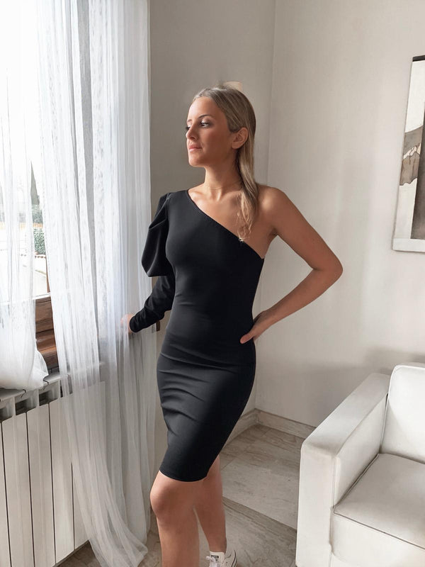 ONE PUFF SLEEVE DRESS Dress LE TRÉ One size Black
