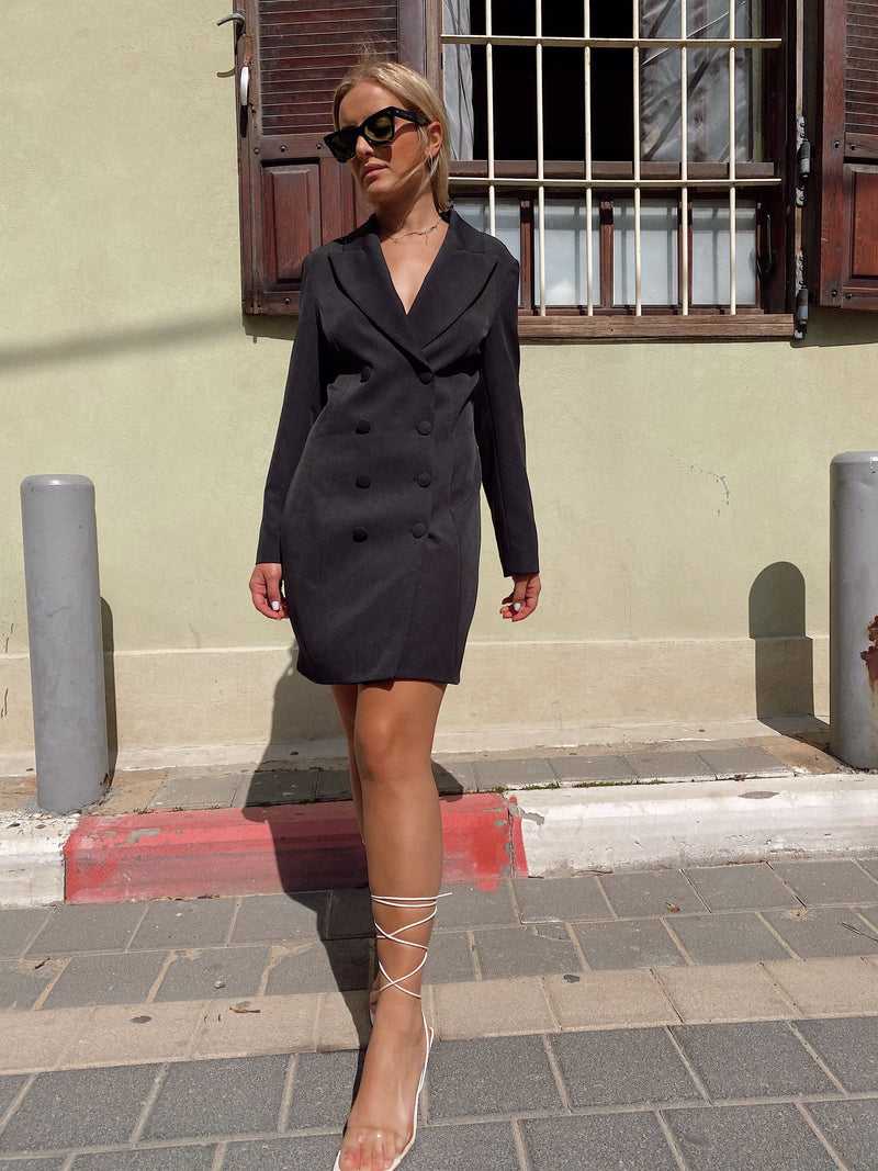 OVERSIZED BLAZER DRESS - Dress - Shop Fashion at LE TRÉ