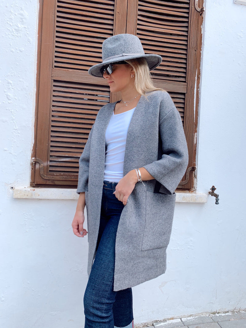 OVERSIZED CARDIGAN WITH POCKETS - Coats & Jackets - Shop Fashion at LE TRÉ