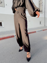 OVERSIZED TAILORED TROUSERS IN BLACK - Trousers - Shop Fashion at LE TRÉ