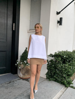SLEEVELESS TOP IN WHITE - Top - Shop Fashion at LE TRÉ