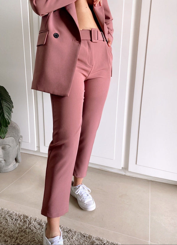 CIGARETTE TROUSERS WITH BELT - Trousers - Shop Fashion at LE TRÉ