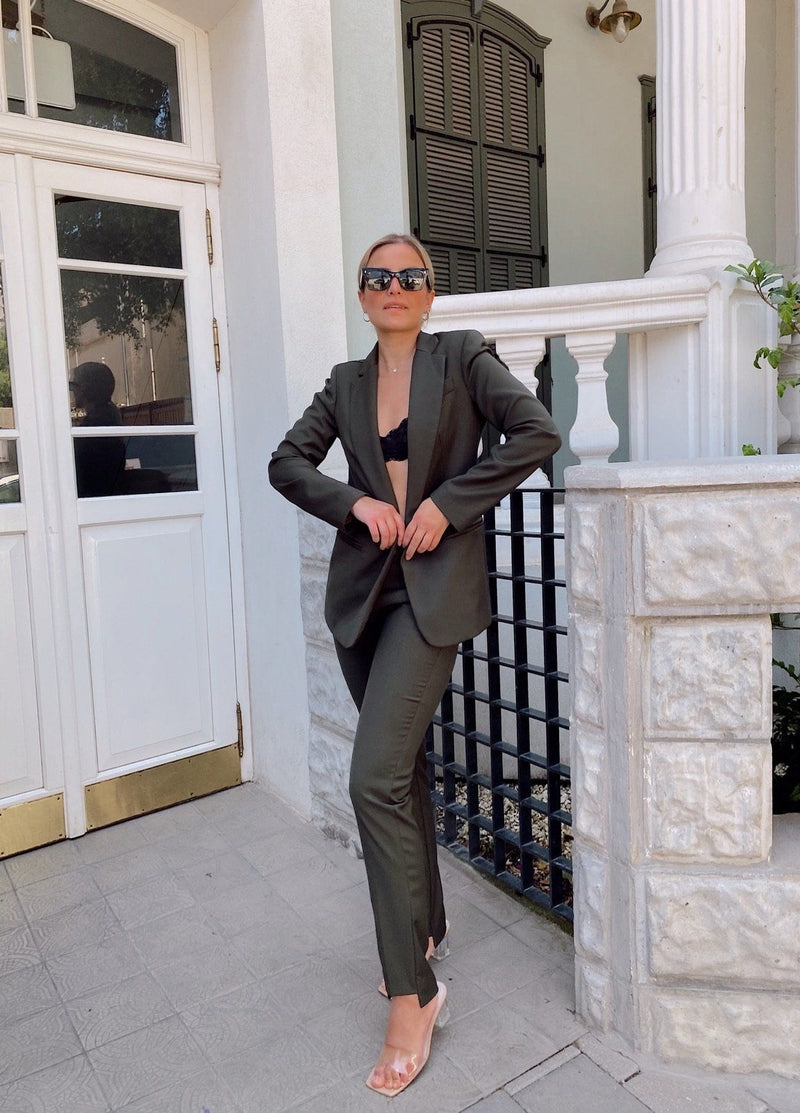 TAILORED SUIT SET IN GREEN - Set - Shop Fashion at LE TRÉ