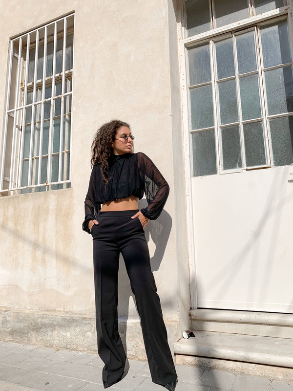 TAILORED WIDE LEG IN BLACK - Trousers - Shop Fashion at LE TRÉ