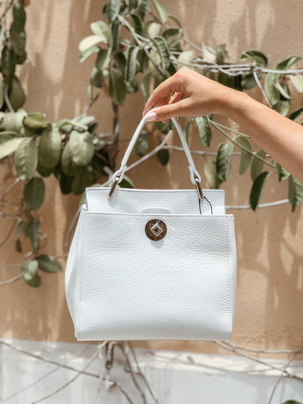WHITE LEATHER BAG - Accessories - Shop Fashion at LE TRÉ