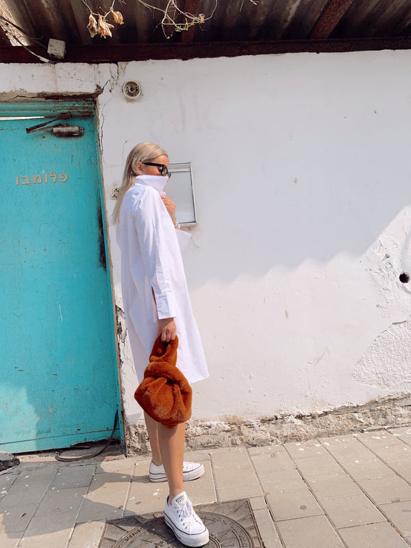 WHITE SHIRT DRESS - Dress - Shop Fashion at LE TRÉ