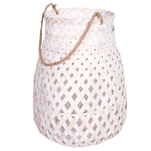 Load image into Gallery viewer, Levi Cane Lantern Basket With Handles 48cm