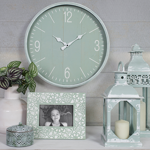 West Bay Wall Clock - Seafoam