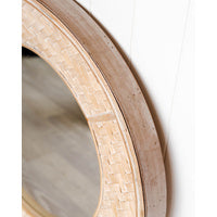 Load image into Gallery viewer, Rylan Whitewash Bamboo Mirror