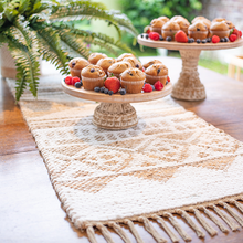 Load image into Gallery viewer, Jute Chenille Table Runner