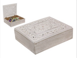 Filigree mandala carved box
