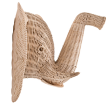 Load image into Gallery viewer, Remi Rattan Elephant Wall Decor