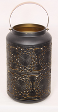 Load image into Gallery viewer, Black & Gold Moroccan Style Lantern