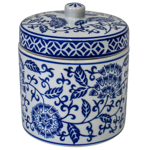 Seychelles Porcelain Blue and White Jar