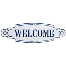 Load image into Gallery viewer, Hamptons Metal Welcome Wall sign