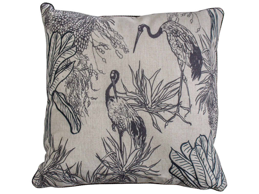 Hamptons Stork Cushion Cover with Insert