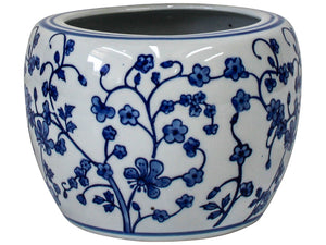 Oakland Blue and White Petite Planter