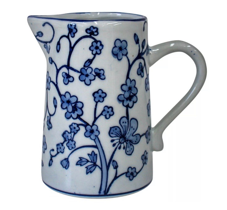 Blue and White Creamer Petite Jug