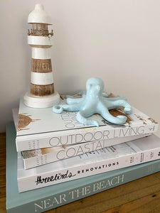 Seafoam Ceramic Octopus Home Decor