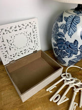 Load image into Gallery viewer, Filigree mandala carved box